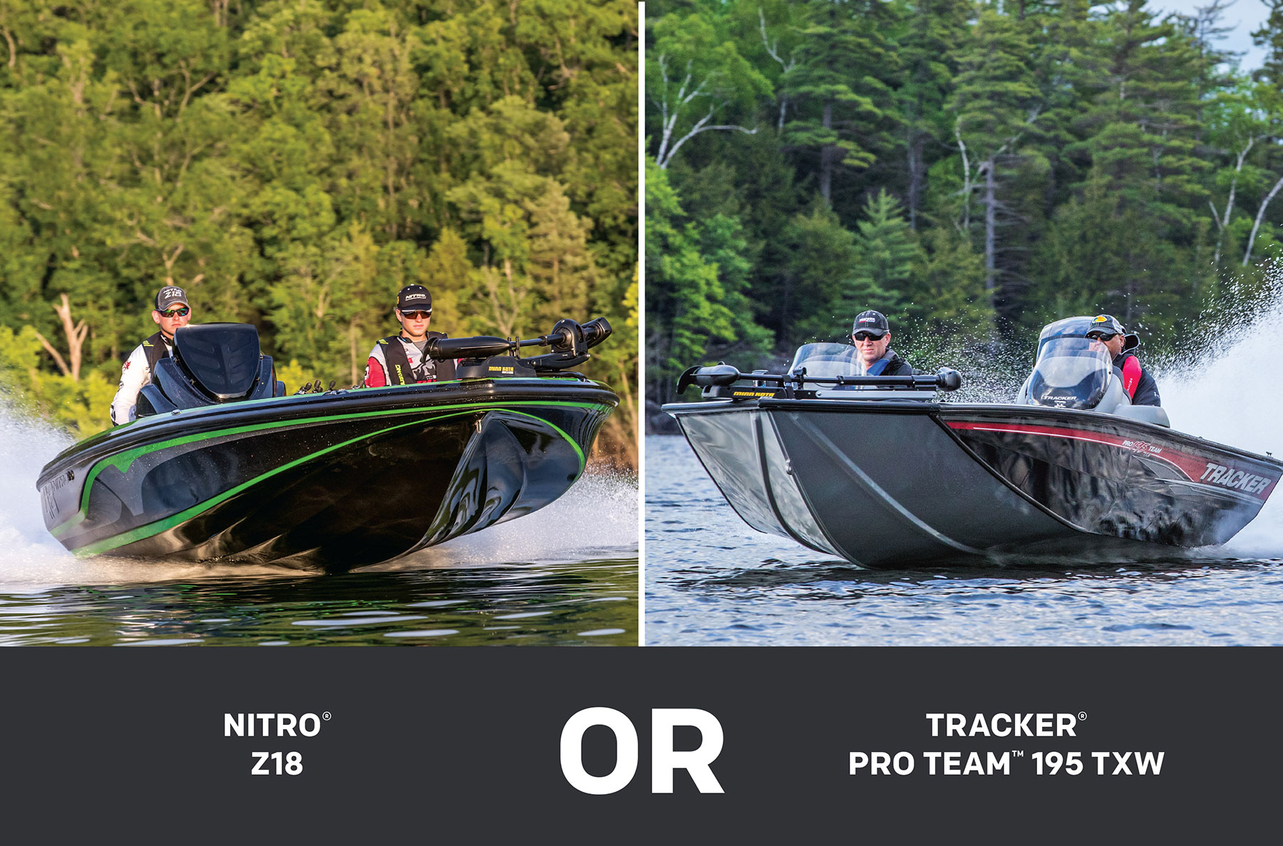 Tracker 195 Txw And Nitro Z18 Model Comparison